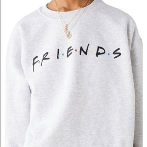 Urban Outfitters Friends Logo Crew Neck Sweatshirt